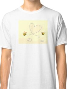 Bee's heart. Bees making big love heart in the air.  Classic T-Shirt