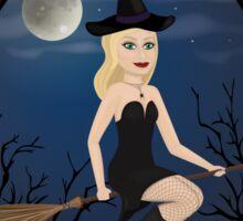 Framed Witch Sticker