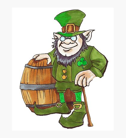 IRISH LEPRECHAUN Photographic Print