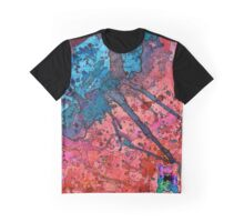Red and Blue Splatagram Graphic T-Shirt