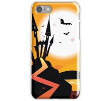 Haunted Castle. Bats over spooky Castle. Vector Illustration. iPhone Case/Skin