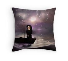 Floating through a coloured perfect world. Throw Pillow