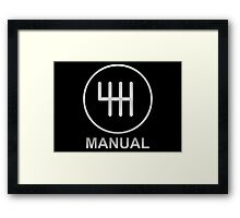 Save the Manuals!! Framed Print