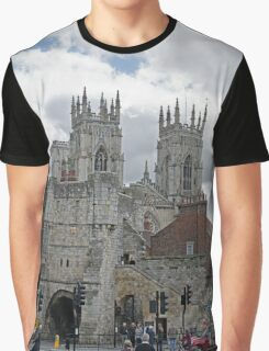 York Minster and Bootham Bar Graphic T-Shirt