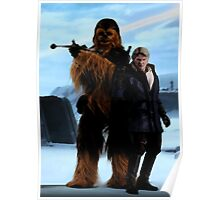 Han and Chewie, Starkiller Base Poster