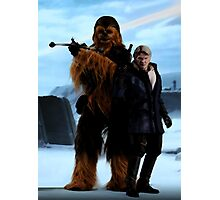 Han and Chewie, Starkiller Base Photographic Print