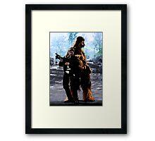 Han and Chewie, Takodana Framed Print
