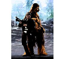 Han and Chewie, Takodana Photographic Print