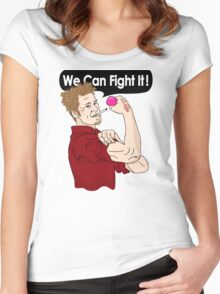We can fight it! Women's Fitted Scoop T-Shirt