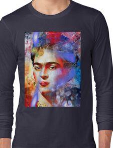Frida Kahlo Painted Long Sleeve T-Shirt