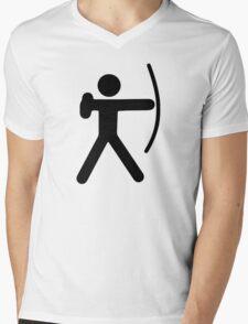 Stickman Archer Mens V-Neck T-Shirt
