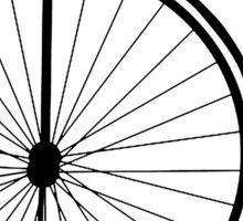Bicycle, Cycle, Penny Farthing, Racing Bike, Road Bike, Racing bicycle, Black on White Sticker