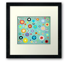 Colorful Happy Circles Framed Print