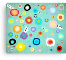 Colorful Happy Circles Canvas Print