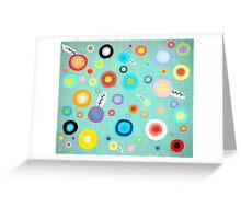 Colorful Happy Circles Greeting Card