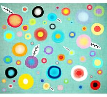 Colorful Happy Circles Photographic Print