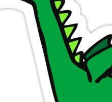 Green Cartoon Dragon Drawing Sticker