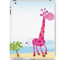 Giraffes in Love. Vector Illustration iPad Case/Skin