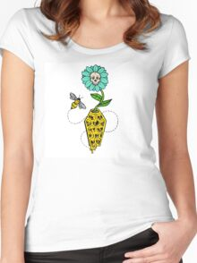 Honeycomb Coffin - colored version Women's Fitted Scoop T-Shirt