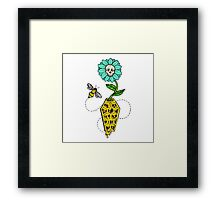Honeycomb Coffin - colored version Framed Print