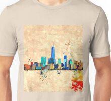 NYC Skyline Grunge Unisex T-Shirt