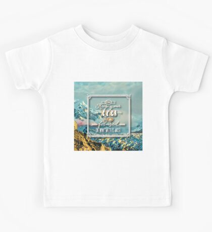 Keep your eyes & focus on what matters most.typography.cool text,beautiful,painted ice landscape,modern,contemporary art Kids Tee