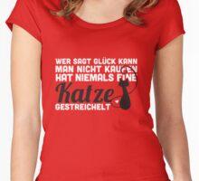 Glück kann man kaufen - man kann eine Katze streicheln! Women's Fitted Scoop T-Shirt