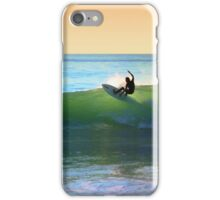 Flying with the surf in the morning, Topanga Beach iPhone Case/Skin