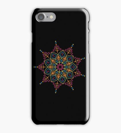 Mandala - neon iPhone Case/Skin