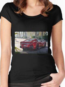 ferrari F12 TDF Women's Fitted Scoop T-Shirt