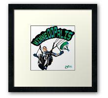 MINNEOOPALIS Framed Print