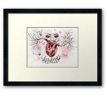 'Grow' - Watercolor and ink drawing Framed Print