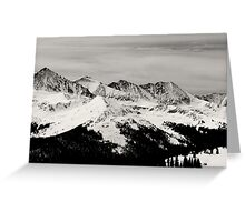 Black and white mountain Greeting Card