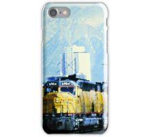 Union Pacific 6904 Train - Salt Lake City, Utah - with mountain range iPhone Case/Skin