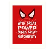 With great power... ( Spider-man ) Art Print