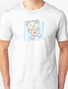 Blue Teddy bear. Children's Toy. Bear with heart, can be symbol of Love Unisex T-Shirt