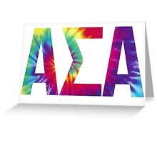 alpha sigma alpha tie dye Greeting Card