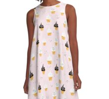 Sweets pink cupcakes   A-Line Dress