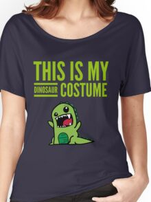 "Funny Halloween Costume ""This Is My Dinosaur ""  Women's Relaxed Fit T-Shirt"