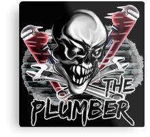 "Plumber Skull: ""The Plumber"" Metal Print"
