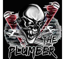"""Plumber Skull: """"The Plumber"""" Photographic Print"""
