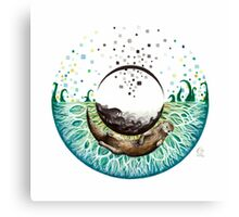 Blue-Green Otter Eye Canvas Print