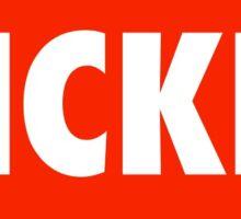 Red Kickline Sticker