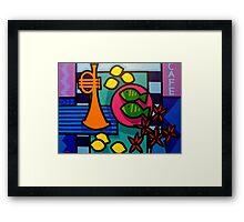 Still Life With Trumpet  Framed Print
