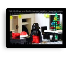 Santa's Normal Clothes Canvas Print