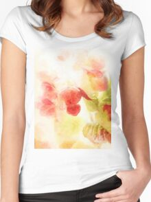 Hydrangea Blossoms Women's Fitted Scoop T-Shirt