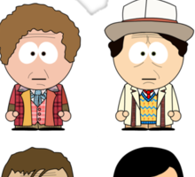All Twelve The Doctors (South Park) - Doctor Who Sticker