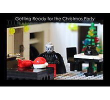 Getting Ready for the Christmas Party Photographic Print
