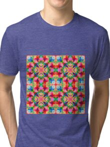 Colors of the kaleidoscope. Colorful ornament.  Tri-blend T-Shirt
