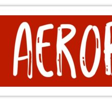 Red Aerobics Sticker